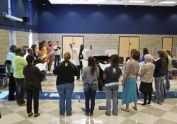KCC choir students rehearse