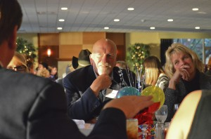 Dr. Ed Haring, former KCC president, listens during the KCC Foundation's annual Scholarship Dinner held this past fall.