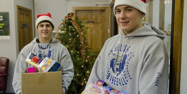 KCC Athletics collecting donations for Toys for Tots
