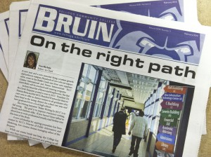 A recent edition of the Bruin student newspaper.