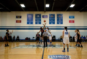 KCC tips off during a home game against Lake Michigan College on Feb. 2.
