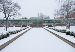 Snow blankets KCC's North Avenue campus.