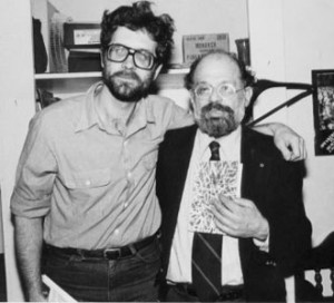 Cope, left, with Allen Ginsberg.
