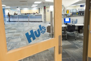 A view of KCC's new Student Services Hub.