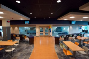 The entrance to the Student Service office area in the newly renovated Student Center.