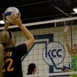 An image from a KCC volleyball camp held in July 2012.
