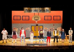 "KCC Theatre actors perform during a dress rehearsal for ""The 25th Annual Putnam County Spelling Bee"" last semester."