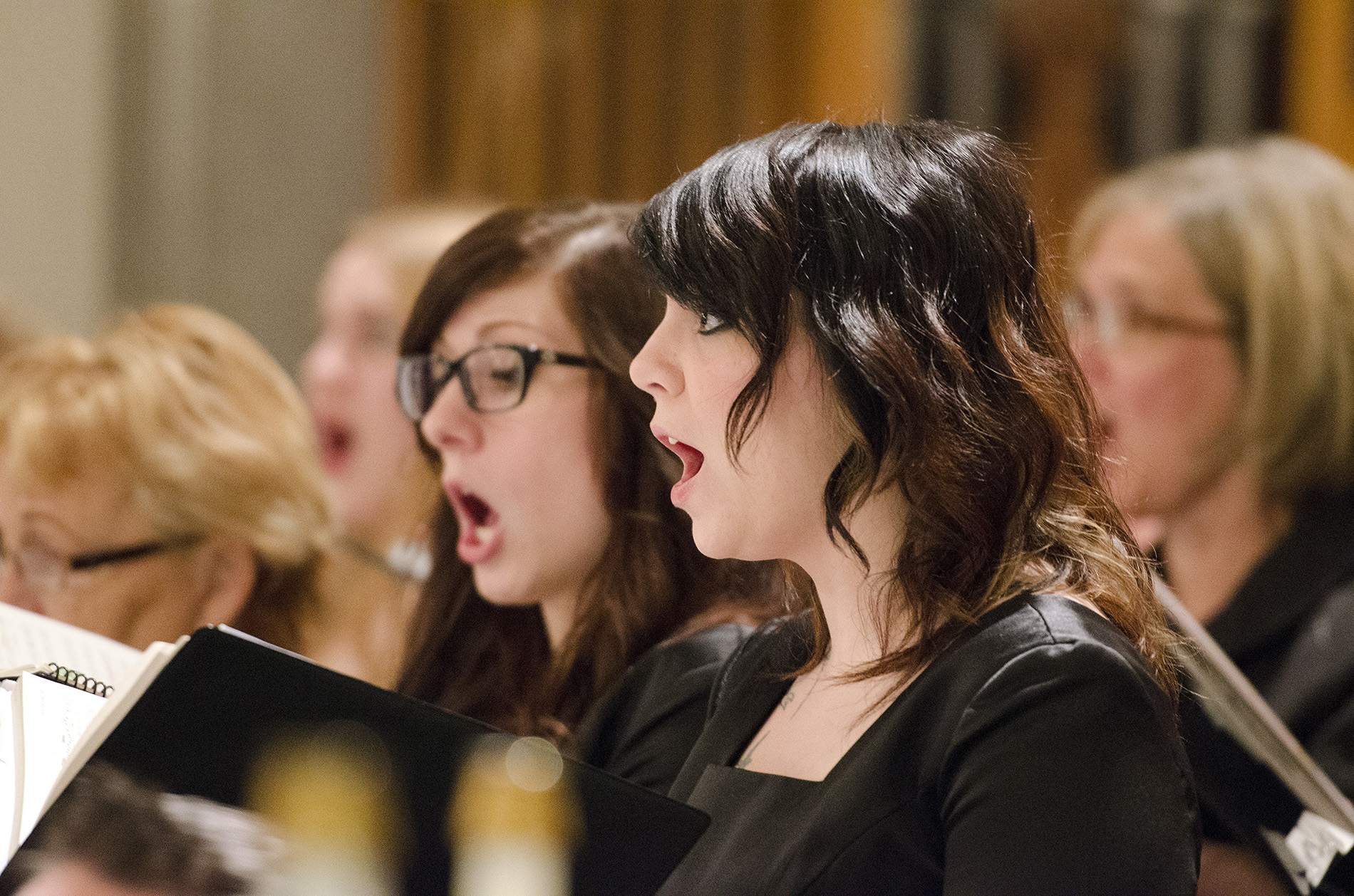 Members of KCC choirs sing in Coldwater in December 2012.