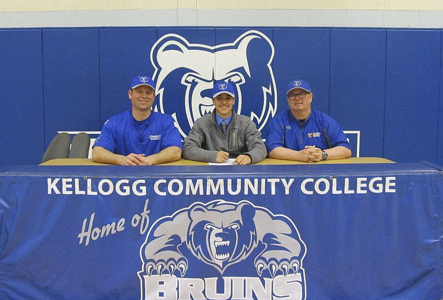 KCC baseball signing photo for Joseph Wolf