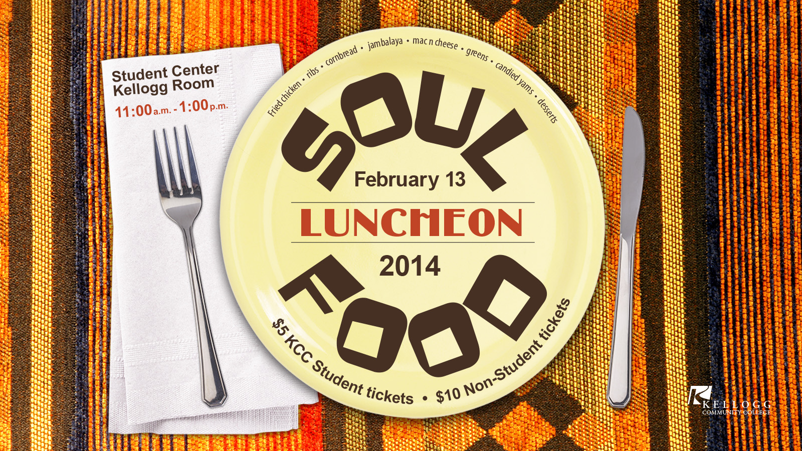 Digital slide for the 2014 Soul Food Luncheon