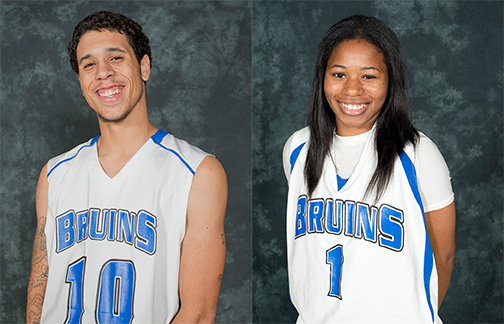 Student-athlete award winners Nathan Taylor and Teonna Pope