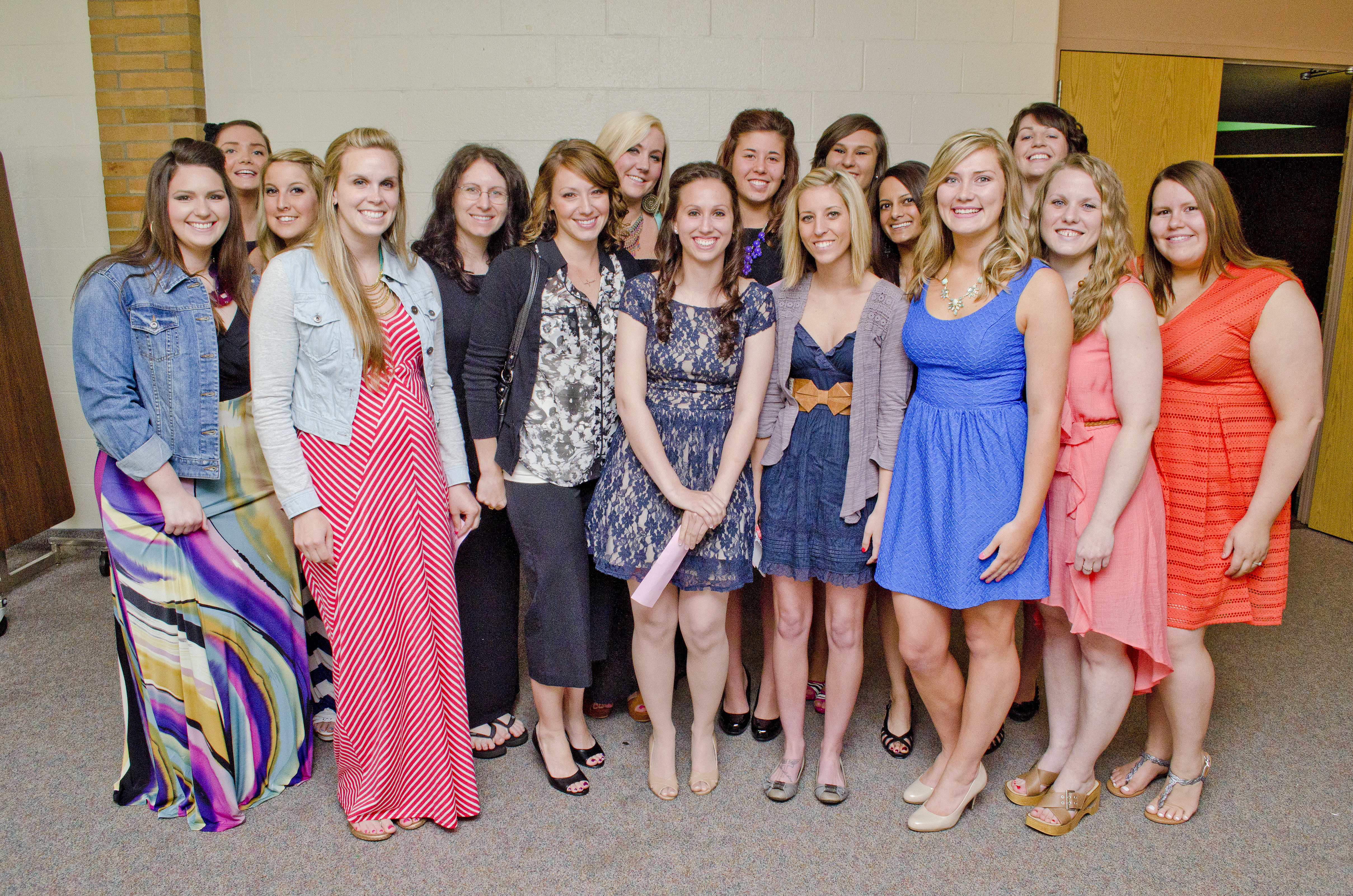 KCC's Dental Hygiene Class of 2014 poses together before their Pinning Ceremony.