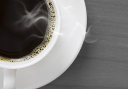 A stock photo of a cup of coffee