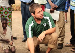 KCC alumnus Jordan Blekking working with the Peace Corps in Zambia.