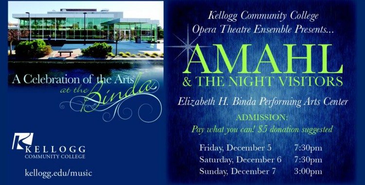 Opera Theatre Ensemble to present 'Amahl' in December