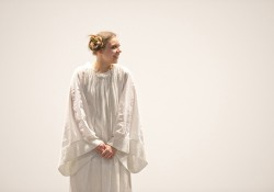 "Aubrey Lynea Shore as Princess Leia in a dress rehearsal for KCC Theatre's ""Sampled Shakespeare"""