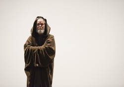 "Gregg Morris as Obi-Wan Kenobi in a dress rehearsal for KCC Theatre's ""Sampled Shakespeare"""