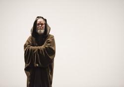 """Gregg Morris as Obi-Wan Kenobi in a dress rehearsal for KCC Theatre's """"Sampled Shakespeare"""""""