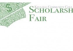 Text and graphic slide promoting the upcoming KCC Scholarship Fair.