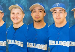 Photos of five KCC baseball players who have committed to play baseball at four-year schools beginning next fall.