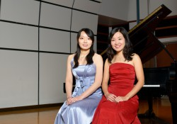 A photo of pianists Wendy Wan-Hsing Chu and Yu-Hsuan Yang, who will be performing at an upcoming Guest Artist Recital event at KCC.