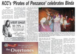 "A photo of a Battle Creek Shopper News article about KCC's upcoming production of ""The Pirates of Penzance"""