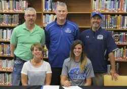 Signing photo for women's basketball commit Alyssa Byrd.