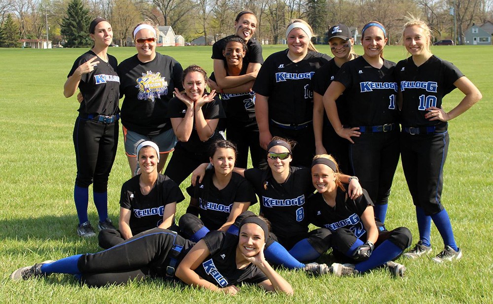 KCC's softball team, photographed by Shelly Smith