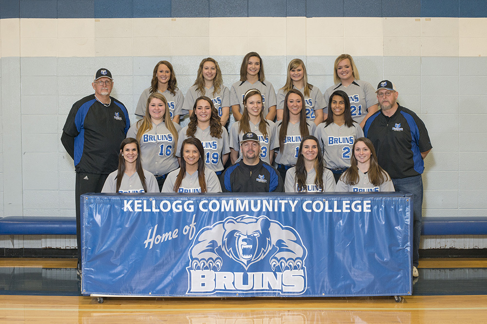 KCC's 2014-15 softball team.