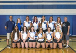 KCC's 2015 women's volleyball team