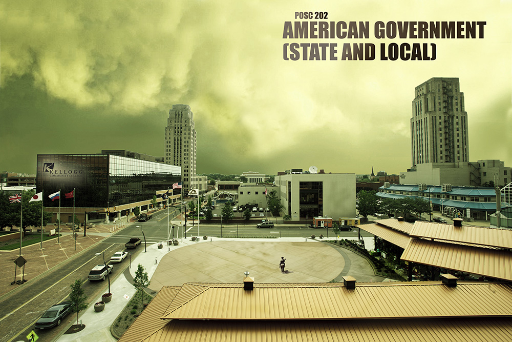 "A stylized, desolate image of downtown Battle Creek designed to look like a scene from the TV show ""The Walking Dead."""