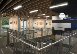 The lobby and gallery of KCC's newly renovated Davidson Visual and Performing Arts Center.