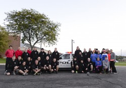 A group photo of participants in the 2014 Law Enforcement Torch Run.