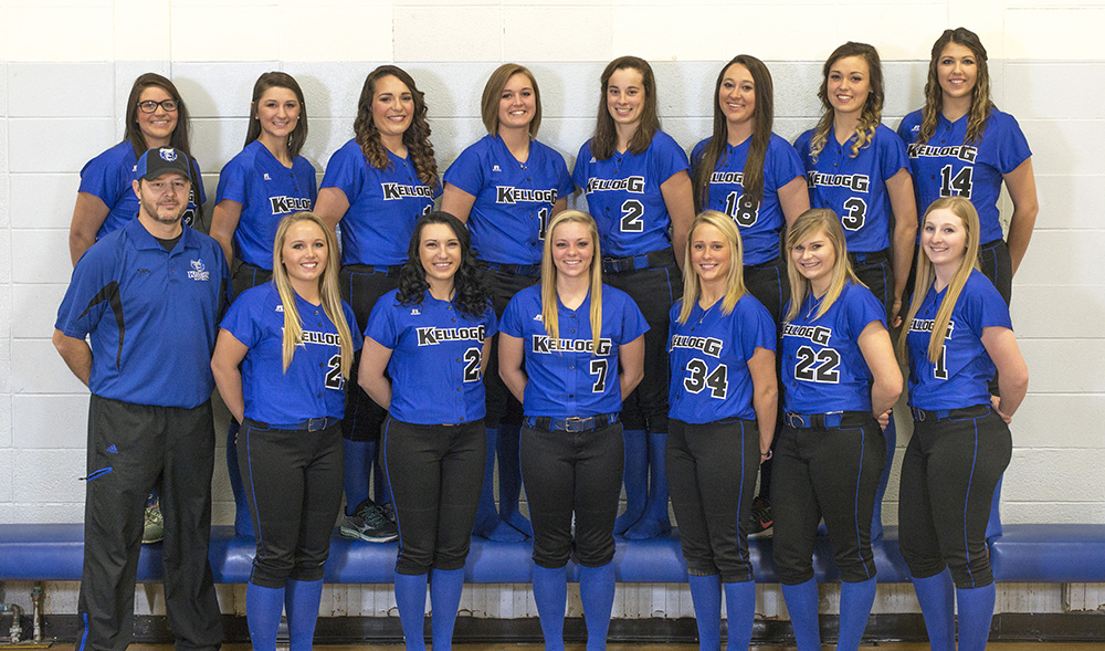 KCC's 2016-17 softball team.