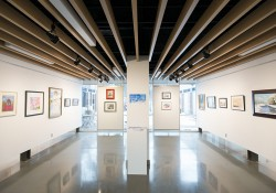 The Battle Creek Society of Artists exhibit on display in the art gallery in the Davidson Center.