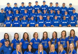 Team photos of KCC's 2016-17 baseball and softball teams.