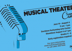 A slide highlighting KCC's upcoming Musical Theatre Summer Camp, running June 14 through Aug. 4.