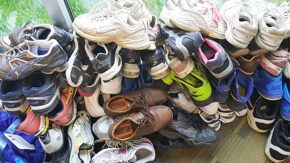 Shoes donated to the Bruin Bookstore's Sneaker Collection campaign, shot by bookstore clerk Kari Barton.