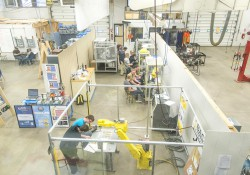 The robotics area of the Branch Area Careers Center in Coldwater.