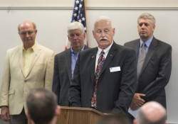 KCC President Mark O'Connell speaks during an event at the RMTC.