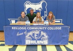 KCC volleyball player Erin Aerts signs a National Letter of Intent to play volleyball at KCC.