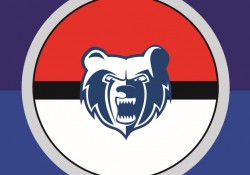 The KCC Bruin logo inside a Pokemon ball.
