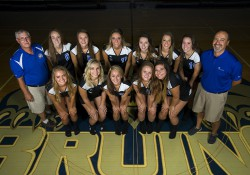 KCC's 2016 women's volleyball team.