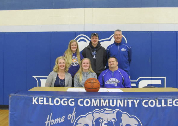 Allison Fuller, of Athens, signs a National Letter of Intent to play women's basketball at Kellogg Community College.