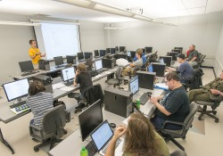 A CET class in session on KCC's North Avenue campus in Battle Creek.
