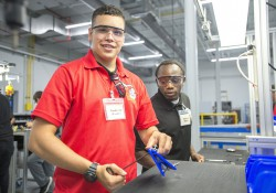 KAMA manufacturing students work during training at the RMTC.