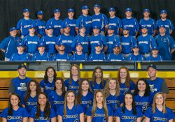 Team photos of KCC's 2017 baseball and softball teams.