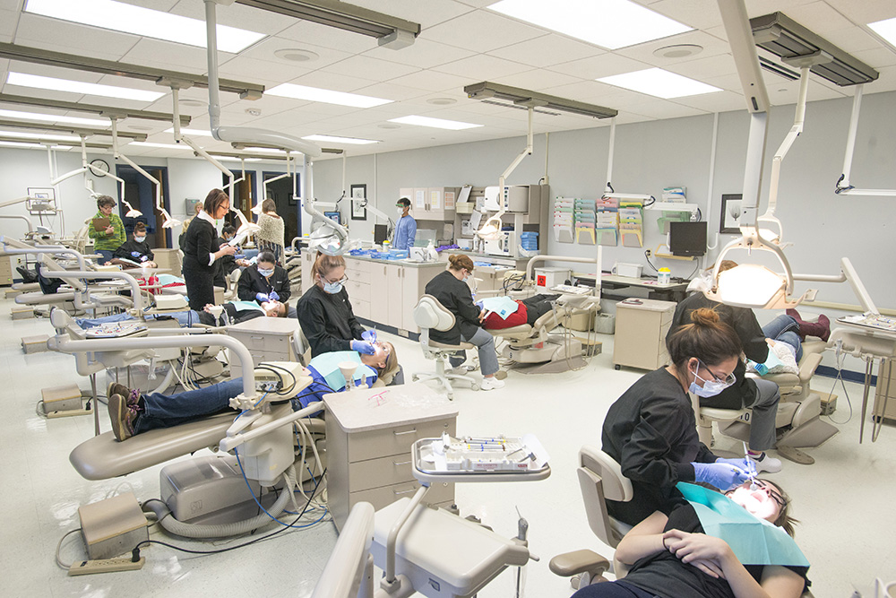 Dental Hygiene students work in the College's Dental Hygiene Clinic.