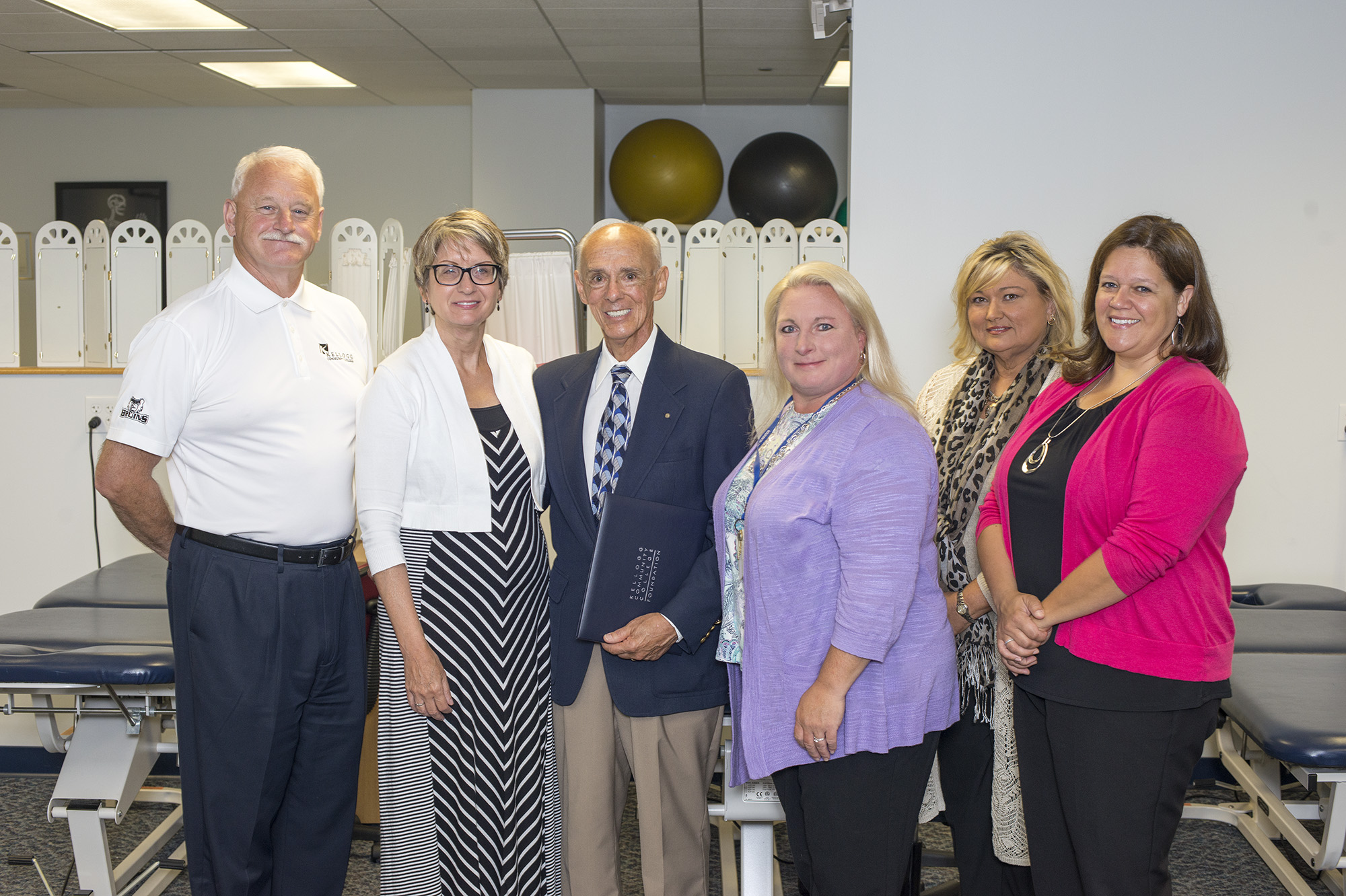 Pictured, from left to right, are KCC President Mark O'Connell, KCC Foundation Executive Director Teresa Durham, SWMRF President Roger Mattens, KCC PTA Coordinator and professor Julie Dawes, KCC Dean of Workforce Development Dr. Jan Karazim and PTA professor Tracy Wood.