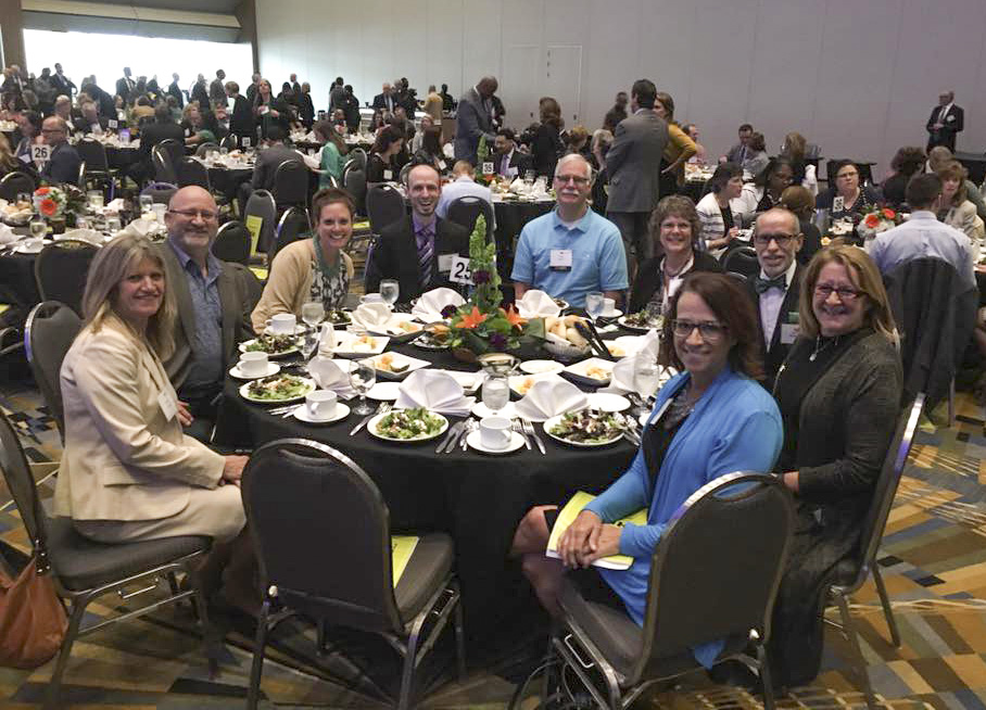 KCC employees and representatives from Holtyn & Associates, LCC, one of KCC's employee wellness vendors, attend a Gala Celebration honoring Governor's Fitness Award nominees in Detroit in April.
